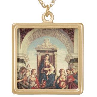 聖者を持つマドンナそして子供 ゴールドプレートネックレス