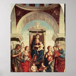 聖者を持つマドンナそして子供 ポスター