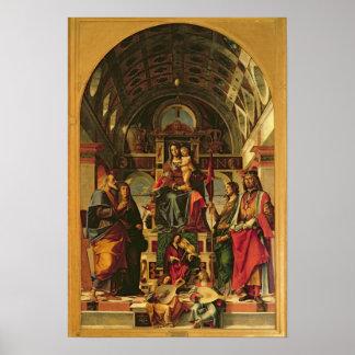 聖者を持つマドンナそして子供、1499年 ポスター