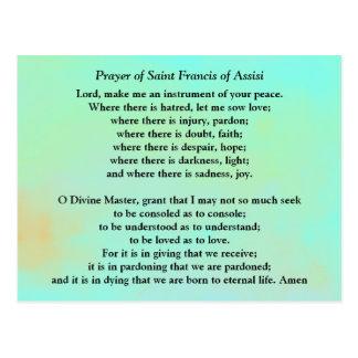 聖者アッシジのフランチェスコの祈りの言葉 ポストカード