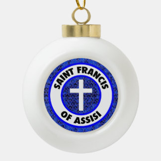 聖者アッシジのフランチェスコ セラミックボールオーナメント