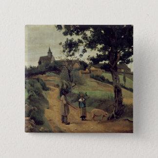 聖者アンドレenMorvan 1842年 5.1cm 正方形バッジ