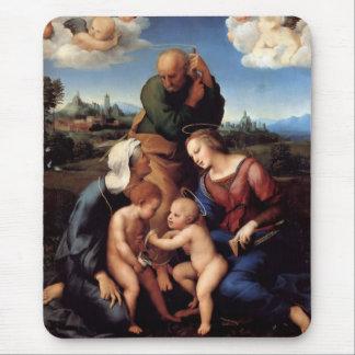 聖者エリザベスおよびジョンを持つ神聖な家族 マウスパッド
