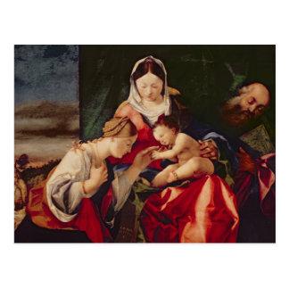 聖者キャサリン、1505/8の神秘的な結婚 ポストカード