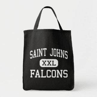 聖者ジョンズ- 《鳥》ハヤブサ-中間-聖者ジョンズ トートバッグ