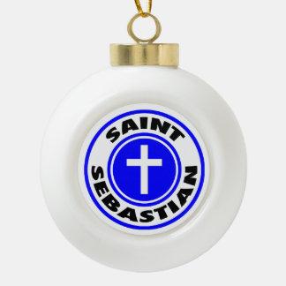 聖者セバスチャン セラミックボールオーナメント