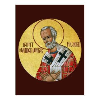 聖者ニコラス驚異労働者の祈りの言葉カード ポストカード