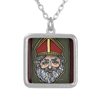 聖者ニコラス シルバープレートネックレス