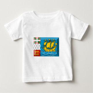 聖者ピエールおよびMiquelonの旗の宝石 ベビーTシャツ