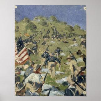 聖者ファンを取っているセオドア・ルーズベルト ポスター