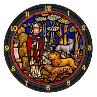 聖者フランシス島の天恵の獣の柱時計 ラージ壁時計