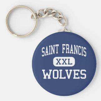 聖者フランシス島-オオカミ-カトリック教徒- Gainesville キーホルダー