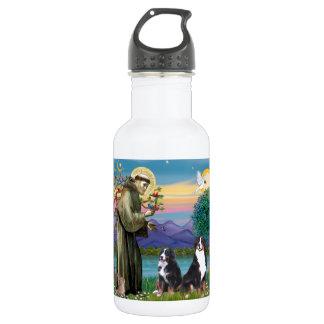 聖者フランシス島- 2匹のバーニーズ・マウンテン・ドッグ ウォーターボトル