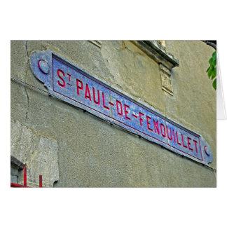 聖者ポールdeFenouillet駅フランス カード