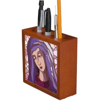 聖者メリーの神、モダンで写実的な写真、rの母 ペンスタンド