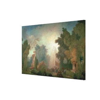 聖者雲(キャンバスの油)の祝日(detaiのために キャンバスプリント