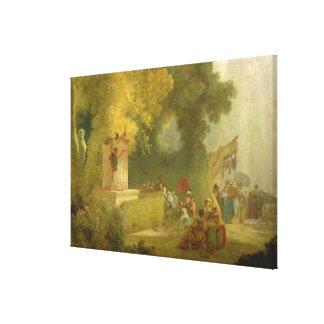 聖者雲、人形劇の詳細の祝日 キャンバスプリント