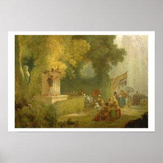 聖者雲、人形劇の詳細の祝日 ポスター