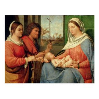 聖者2を持つマドンナそして子供 ポストカード
