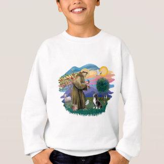 聖者-アメリカの(犬)スタッフォード スウェットシャツ