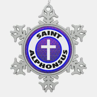 聖者Alphonsus スノーフレークピューターオーナメント