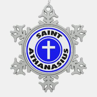 聖者Athanasius スノーフレークピューターオーナメント