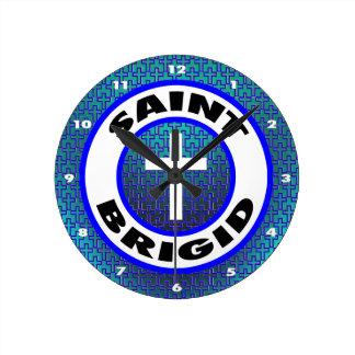 聖者Brigid ラウンド壁時計