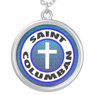 聖者Columban シルバープレートネックレス