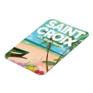 聖者Croixの米国バージン諸島旅行ポスター マグネット
