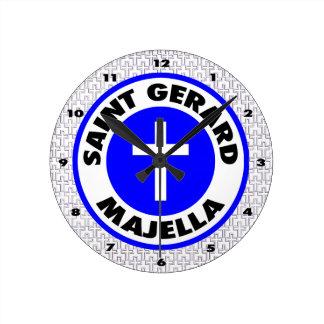 聖者Gerard Majella ラウンド壁時計
