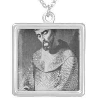聖者Gildas deRhuysの修道士としてAbelard シルバープレートネックレス