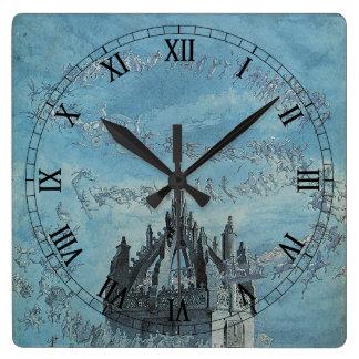 聖者Giles -チャールズAltamont Doyle著彼の鐘 スクエア壁時計