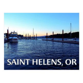 聖者Helens、か水辺地帯の郵便はがき ポストカード