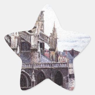 聖者Jacues、Dieppeの雨の天候の教会 星シール