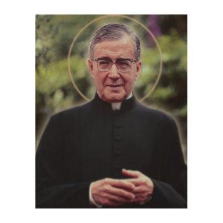 聖者Josemaría Escrivá ウッドウォールアート
