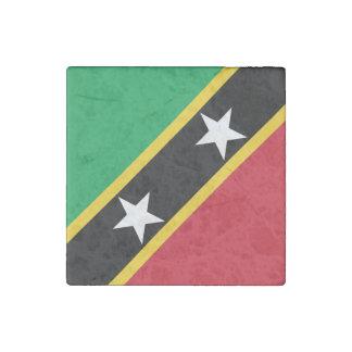 聖者Kittsおよびネビスの旗 ストーンマグネット