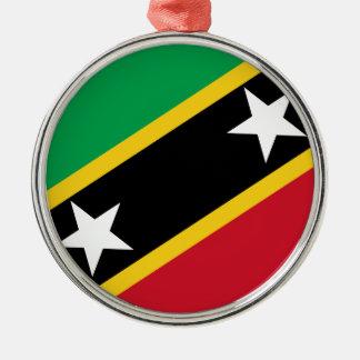 聖者Kittsおよびネビスの旗 メタルオーナメント