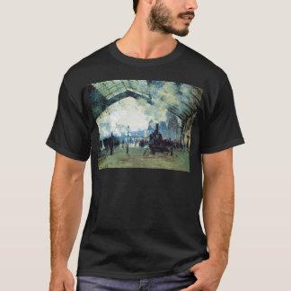 聖者Lazare Gareのクロード・モネ著ノルマンディーの列車 Tシャツ
