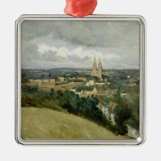 聖者Lo、c.1833の町の一般的な見解 メタルオーナメント