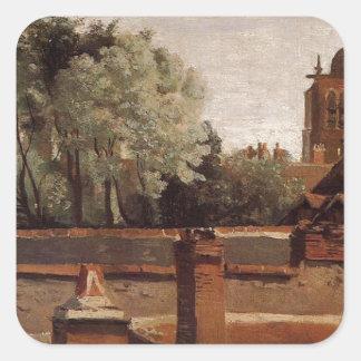 聖者Paterneの教会の鐘桜 スクエアシール