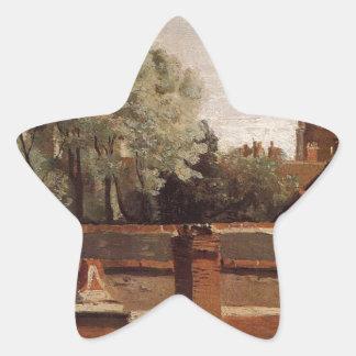 聖者Paterneの教会の鐘桜 星シール