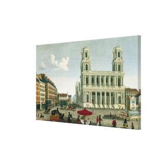 聖者Sulpiceの教会の眺め キャンバスプリント