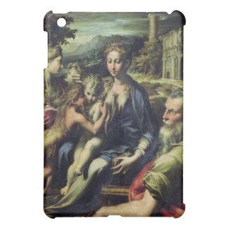 聖者Zacharias、c.1527-30 (カリフォルニアとのマドンナの油 iPad Miniケース
