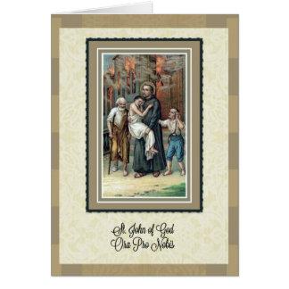 聖職カードの神記念日の聖ヨハネ カード