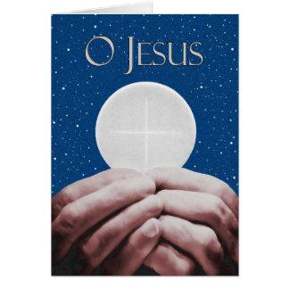 聖職者にふさわしい聖職授与式の挨拶状の記念日 カード