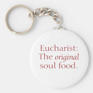聖餐式: 元の精神食糧ボタンのキーホルダー キーホルダー