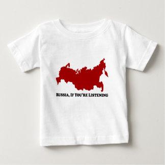 聞いていたら-ベビーのTシャツロシア ベビーTシャツ