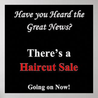 聞かれたヘアカットの販売ポスターマットあります ポスター