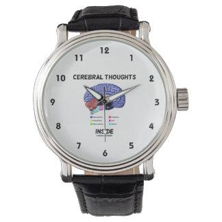 聡明な解剖ユーモアの中の大脳の思考 腕時計