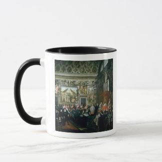 聴衆を持つポールV、1620年法皇 マグカップ